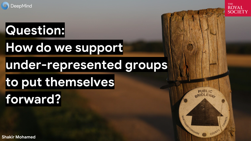 Talk: How Do We Support Under-represented Groups To Put Themselves Forward?