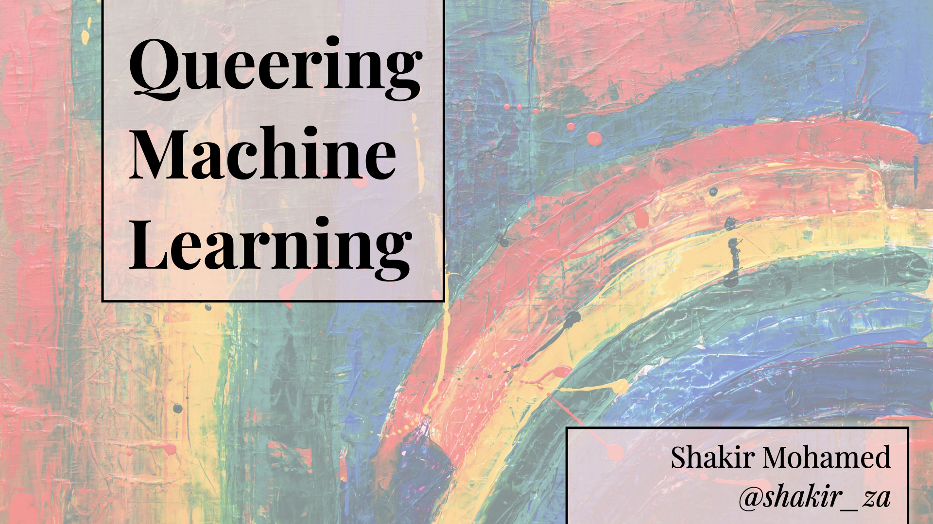 Queering Machine Learning