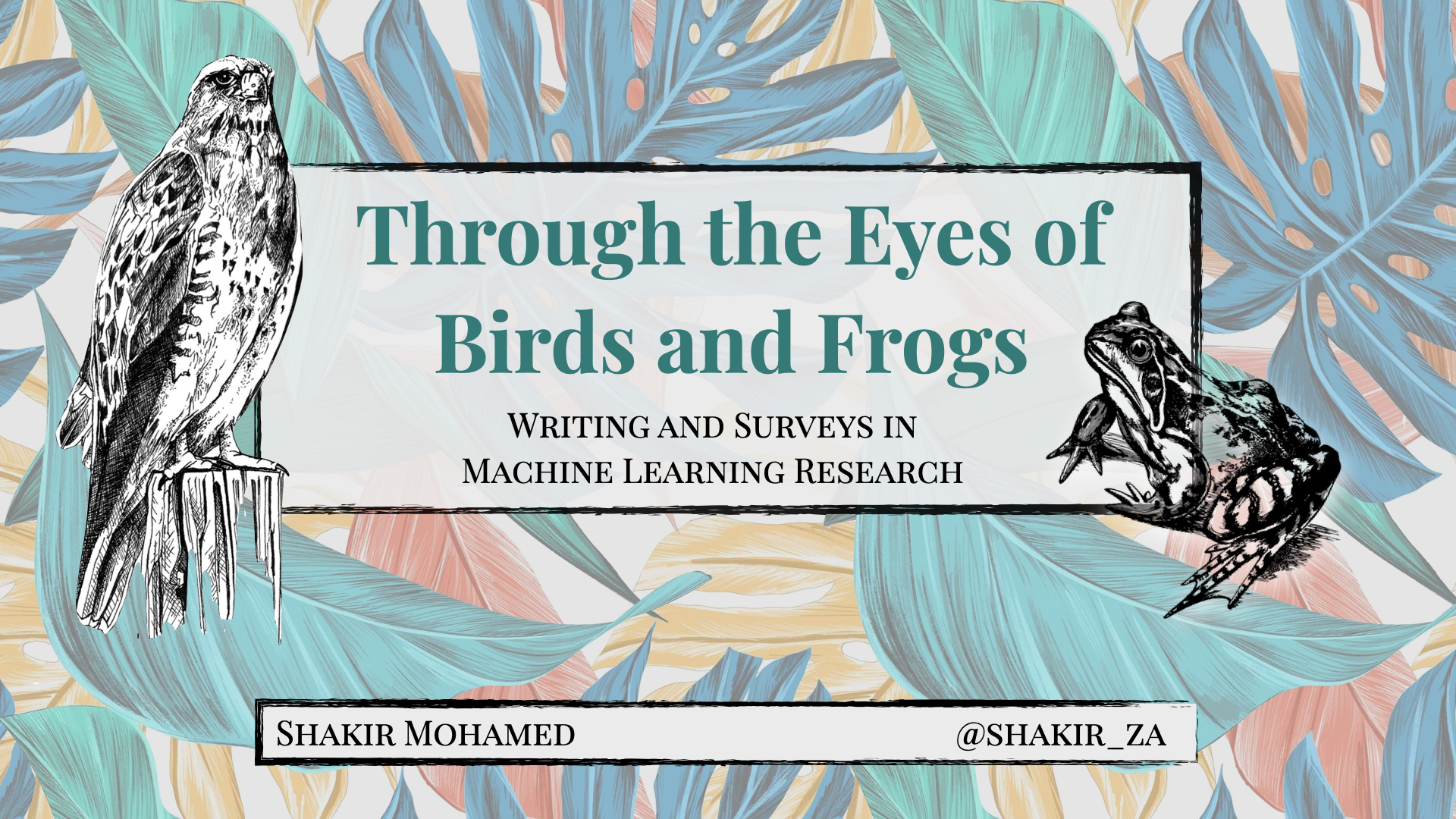 Through the Eyes of Birds and Frogs: Writing and Surveys in Machine Learning Research